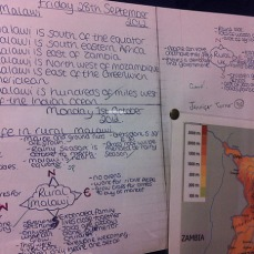 "Learning from Malawi - Outcomes: Student Work 1 ""Where is Malawi and What is it like?"""