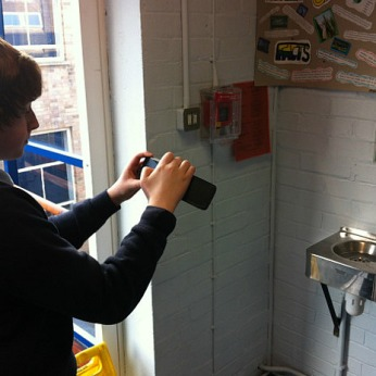 Step 1 - Taking Pictures: Students took pictures from around the school and home, showing aspects of their lives.