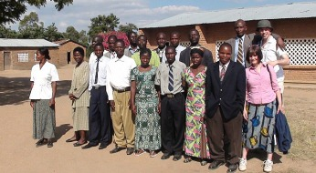 Mcheneka staff with 2 azungu