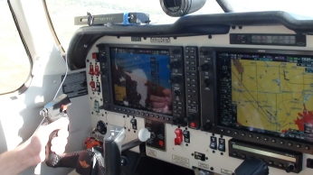 The instrument panel of the cockpit, very complex, it took me the whole flight to understand or recognise half of it!