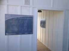 Almost all of the houses had a grey-water facility, but this is the only house where I saw a good clear diagram of one.