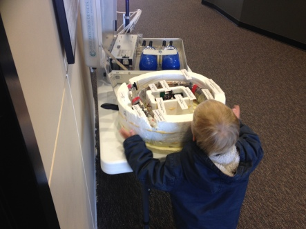 Theo was interested in my AirCore model for a whole 15 seconds - not bad for a 3-year old!
