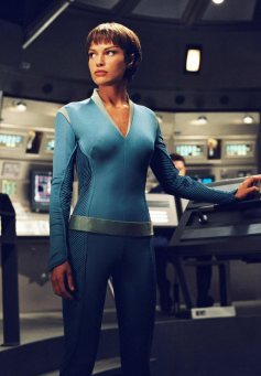 T'Pol measures the different isotopes carbon and oxygen from carbon dioxide collected in air samples.