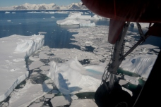 On final approach to Rothera. Credit: Dan Beeden (BAS)