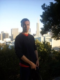 San Francisco in August 2010. Warm enough not to need a jacket, but cool enough for a light jumper!