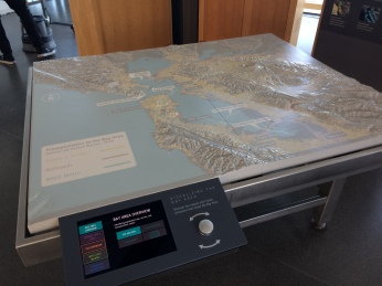 Interactive topographical map of the bay which gives you a number of features you can animate on it