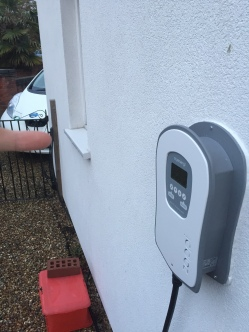 Zappi home-charger. It can 'fast' charge the car at 7kW.